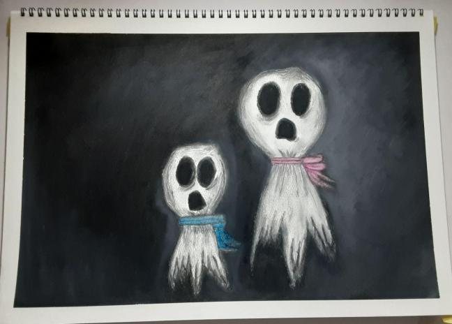 Mum and Baby Ghost Portrait